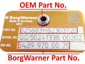 borgwarner turbo azonositasa