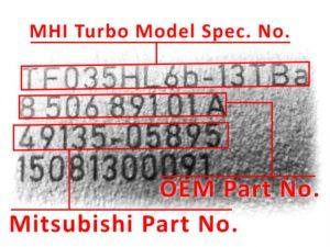 mitsubishi turbo azonositasa